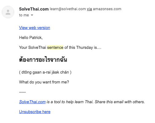 Learn Thai Sentence a Day